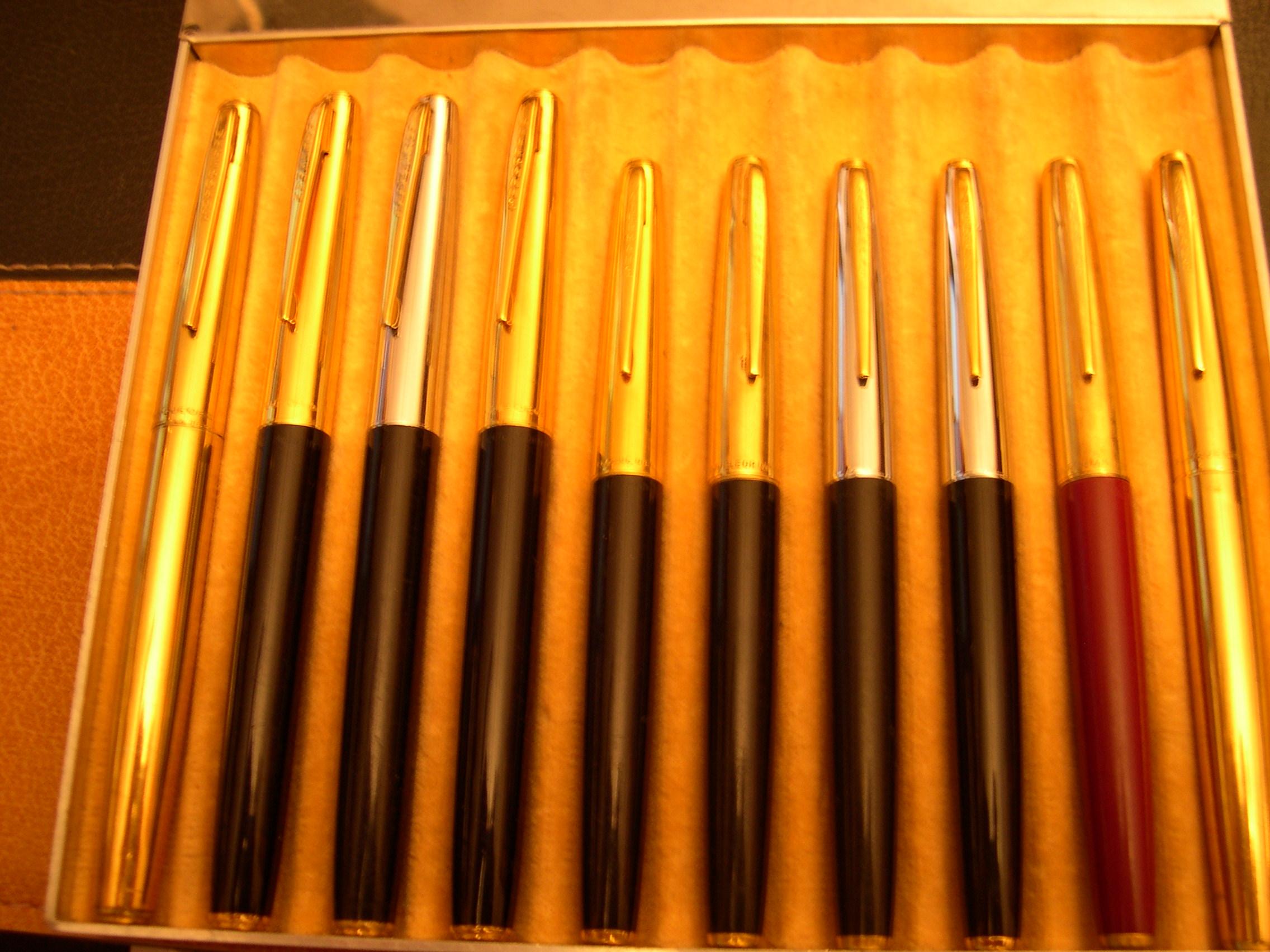 Des stylos courants des années 60.